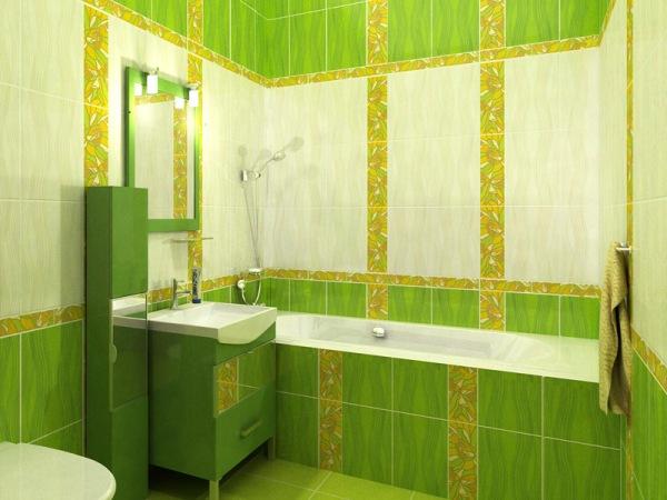 Плитка в ванной салатовая фото