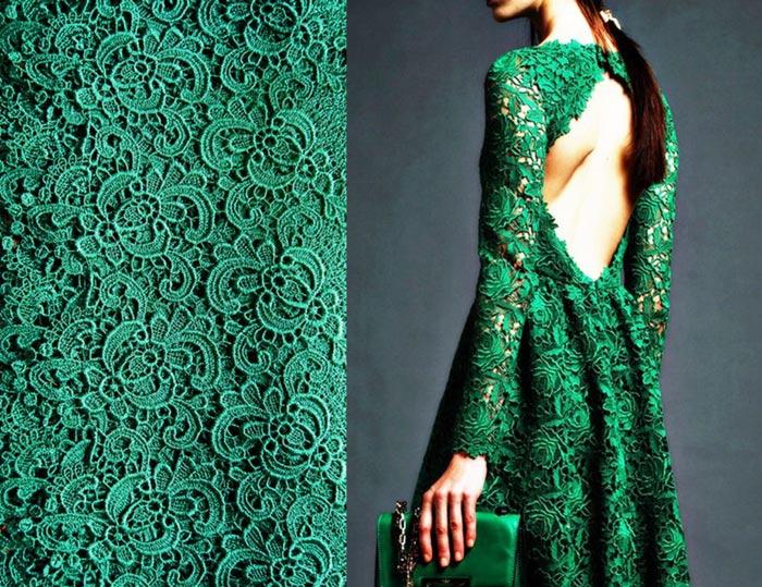 Платье Зеленое Кружевное Купить