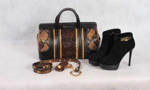 Ботинки женские из замши, Dyva. Сумка женская, ремень и ключница, кожа, Braccialini в бутике «Бон Марше» г.Чебоксары.